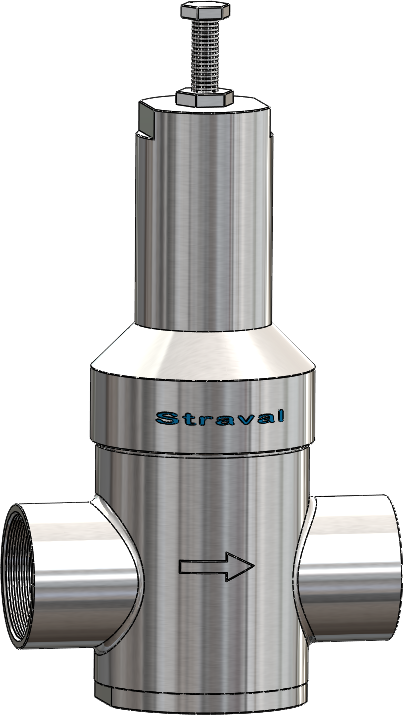stainless steel in line pressure regulator reducing valve. Black Bedroom Furniture Sets. Home Design Ideas