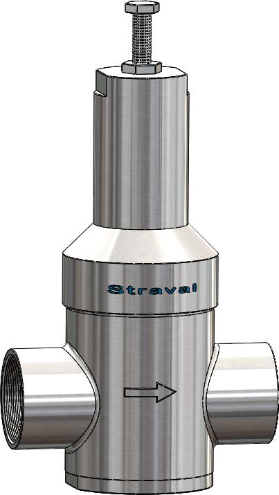stainless steel in line pressure regulator reducing valve straval. Black Bedroom Furniture Sets. Home Design Ideas